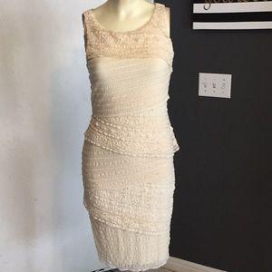 Bailey 44 cream lace layered dress size m